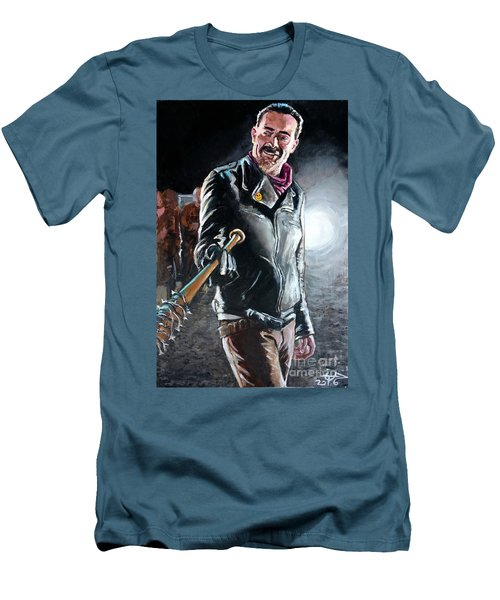 Negan Men's T-Shirt (Slim Fit) by Tom Carlton