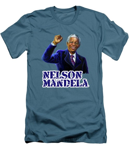 Nelson Mandela Men's T-Shirt (Athletic Fit)
