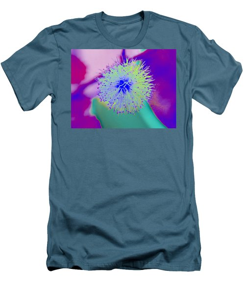 Neon Green Puff Explosion Men's T-Shirt (Slim Fit) by Samantha Thome
