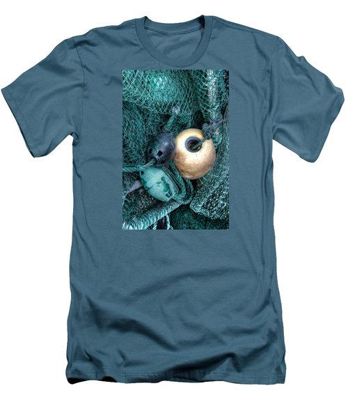 Nets And Buoys Men's T-Shirt (Slim Fit) by Lynn Jordan