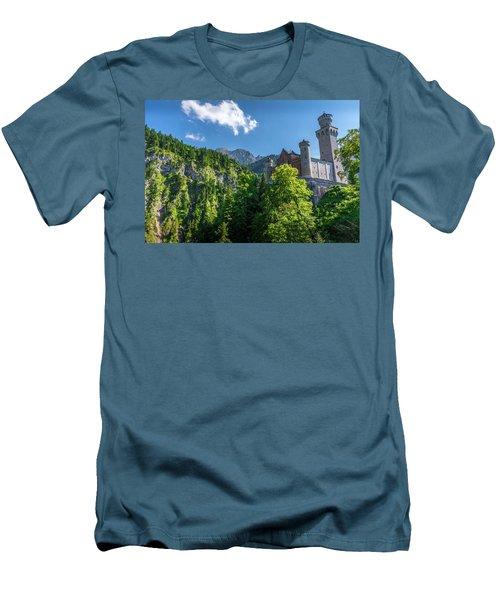 Men's T-Shirt (Slim Fit) featuring the photograph Neuschwanstein Castle by David Morefield