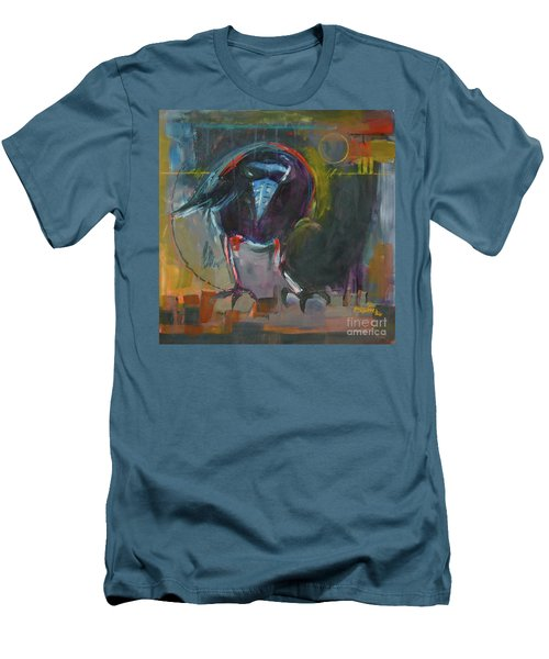 Men's T-Shirt (Slim Fit) featuring the painting Nevermore by Ron Stephens