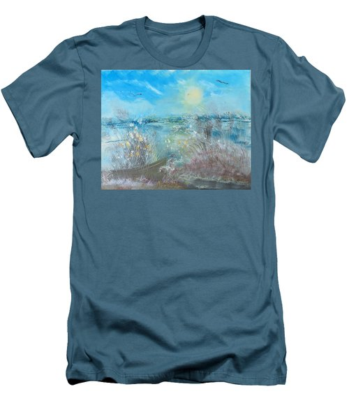 Boat In The Bay Men's T-Shirt (Athletic Fit)