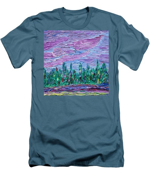 Men's T-Shirt (Slim Fit) featuring the painting New Jersey Colors by Vadim Levin