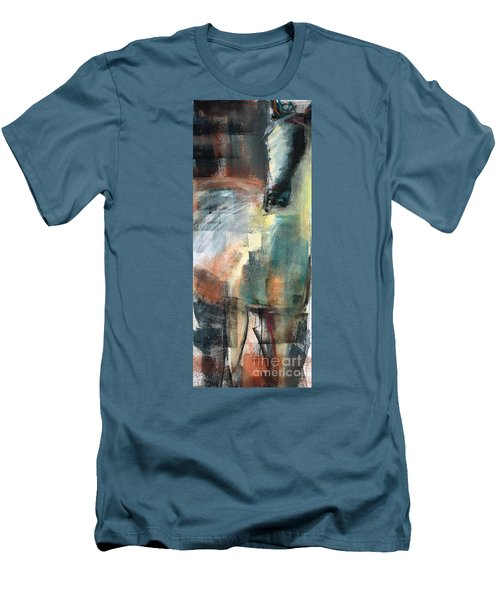 New Mexico Horse Three Men's T-Shirt (Slim Fit) by Frances Marino