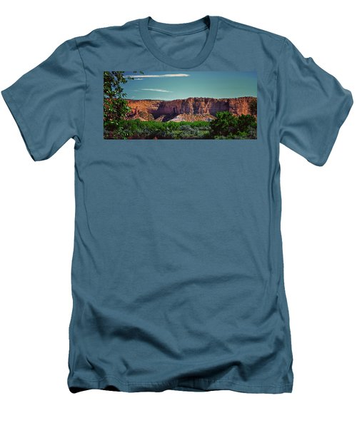 New Mexico Mountains 004 Men's T-Shirt (Slim Fit) by George Bostian
