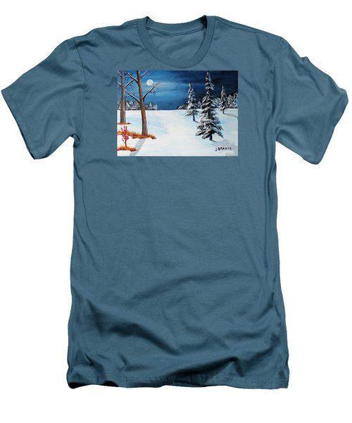 New Moon New Snow Men's T-Shirt (Slim Fit) by Jack G Brauer