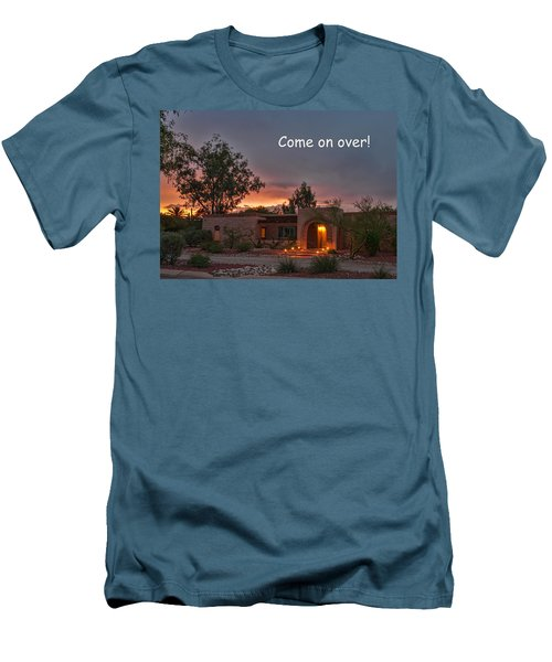 Men's T-Shirt (Slim Fit) featuring the photograph New Neighbors Card by Dan McManus