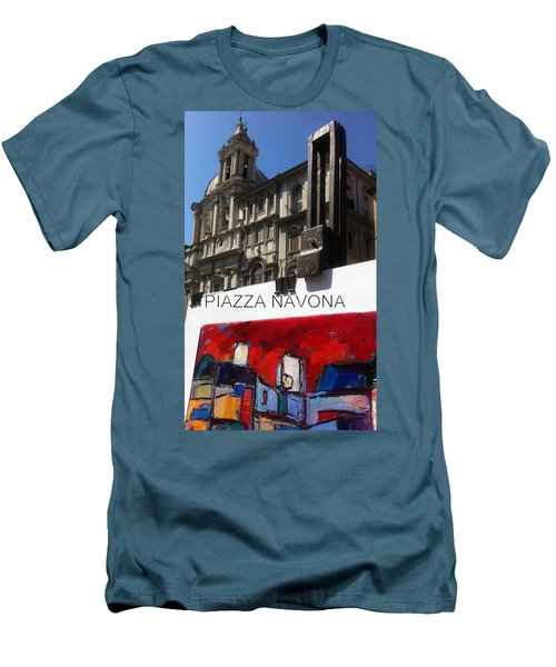 new work Piazza Navona Men's T-Shirt (Athletic Fit)