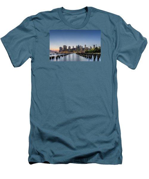 New York City Dusk Men's T-Shirt (Athletic Fit)