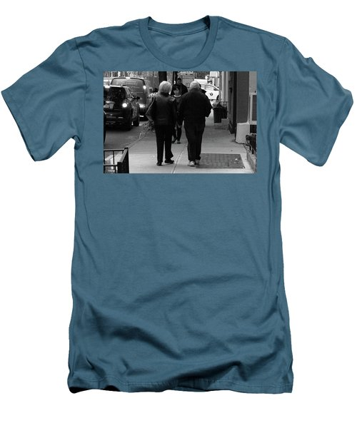 Men's T-Shirt (Slim Fit) featuring the photograph New York Street Photography 75 by Frank Romeo