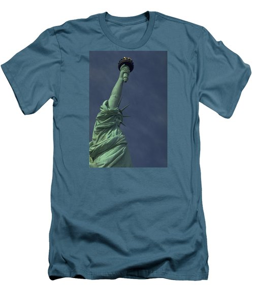 Men's T-Shirt (Slim Fit) featuring the photograph New York by Travel Pics