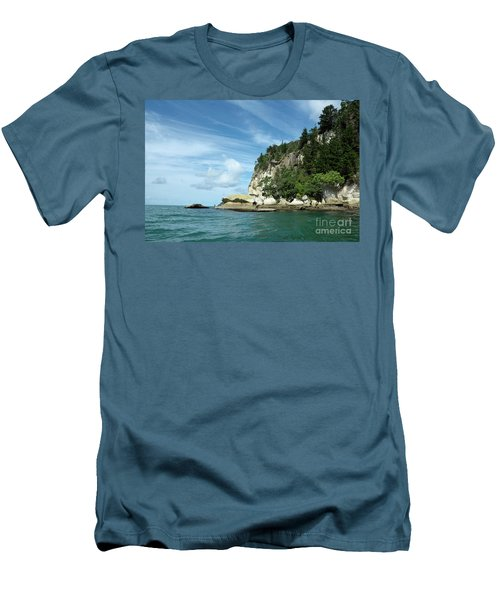 Men's T-Shirt (Slim Fit) featuring the photograph New Zealand Beauties by Yurix Sardinelly