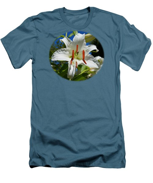 Newly Opened Lily Men's T-Shirt (Slim Fit) by Nick Kloepping