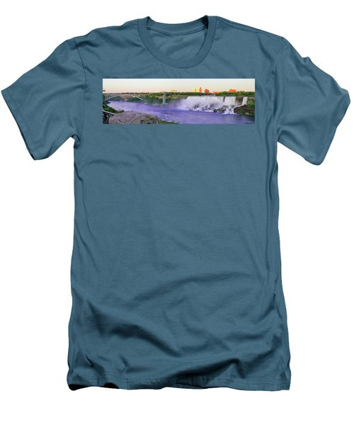 Niagara Falls At Dusk Men's T-Shirt (Athletic Fit)