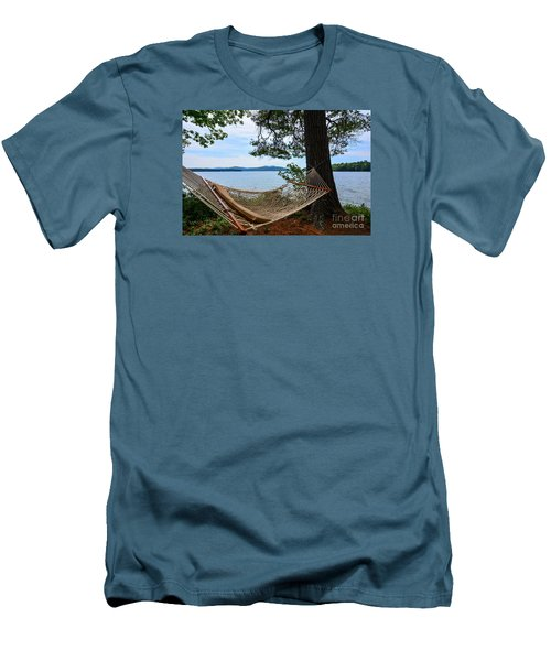 Men's T-Shirt (Slim Fit) featuring the photograph Nice Spot For A Nap by Mim White