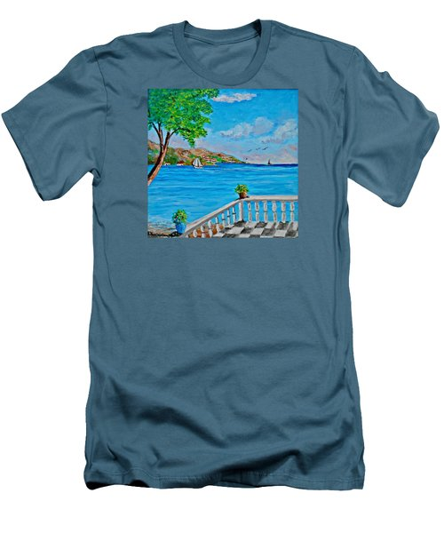 Nice View Men's T-Shirt (Athletic Fit)