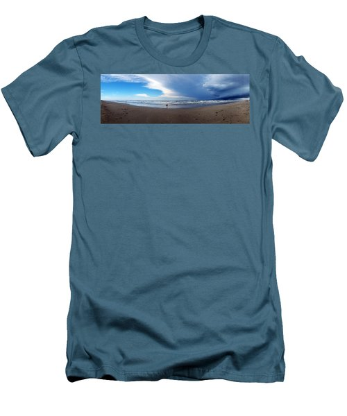 Nicki At Port Aransas Men's T-Shirt (Athletic Fit)