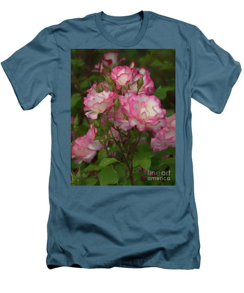Nicole Roses Men's T-Shirt (Athletic Fit)