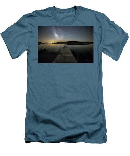 Men's T-Shirt (Slim Fit) featuring the photograph Night On The Dock by Aaron J Groen
