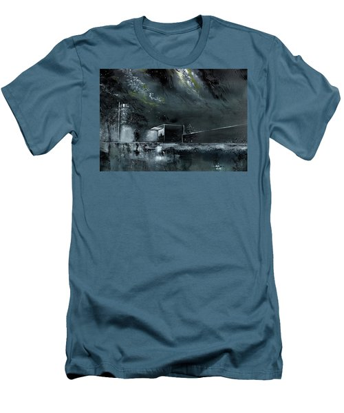 Men's T-Shirt (Slim Fit) featuring the painting Night Out by Anil Nene