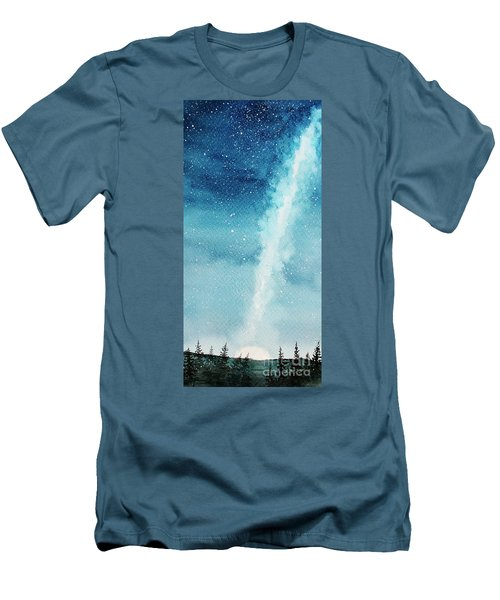 Night Sky Men's T-Shirt (Slim Fit) by Rebecca Davis