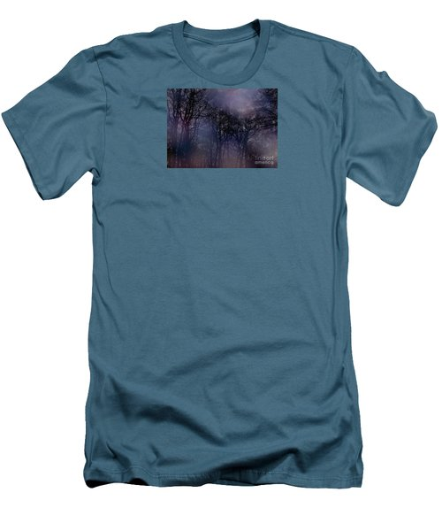 Men's T-Shirt (Slim Fit) featuring the photograph Nightfall In The Woods by Sandy Moulder