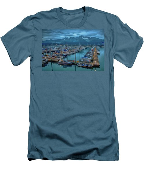 Nightfall On The Harbor Men's T-Shirt (Athletic Fit)