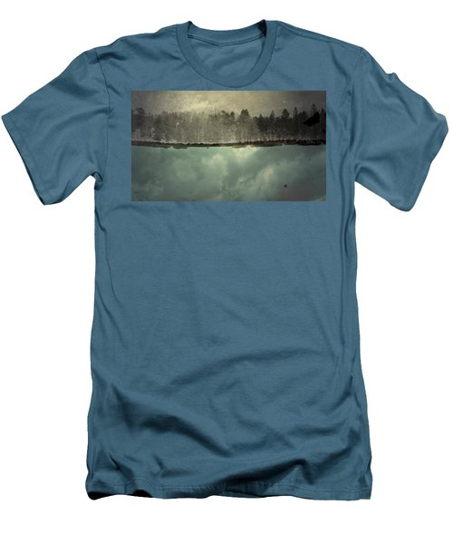 Men's T-Shirt (Slim Fit) featuring the photograph No One Ever Leaves  by Mark Ross