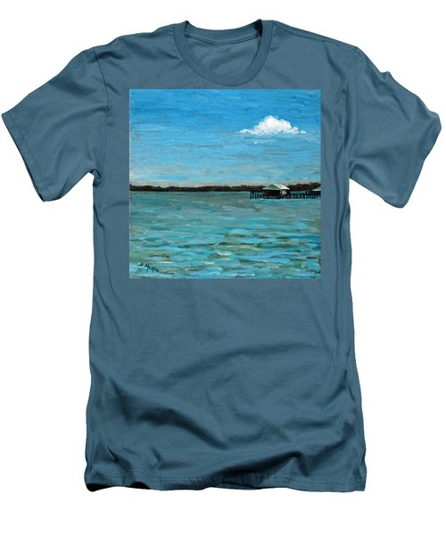 Men's T-Shirt (Slim Fit) featuring the painting No Rain Today by Suzanne McKee