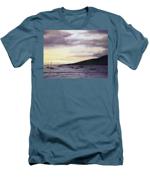 No Safer Harbor Lahaina Hawaii Men's T-Shirt (Athletic Fit)