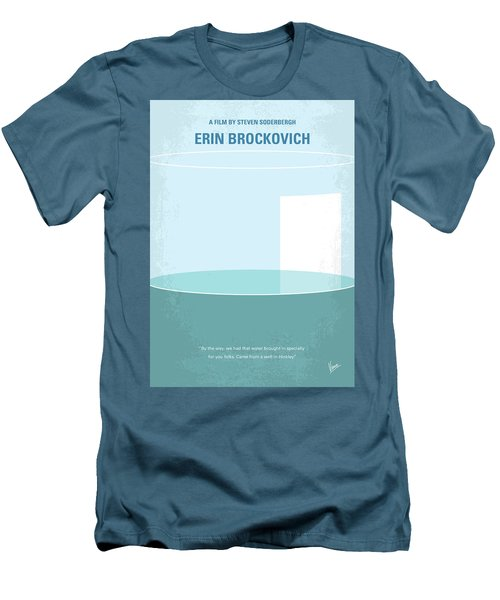 Men's T-Shirt (Slim Fit) featuring the digital art No769 My Erin Brockovich Minimal Movie Poster by Chungkong Art