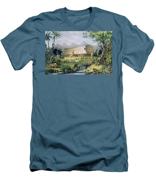 Noahs Ark Men's T-Shirt (Slim Fit) by Currier and Ives