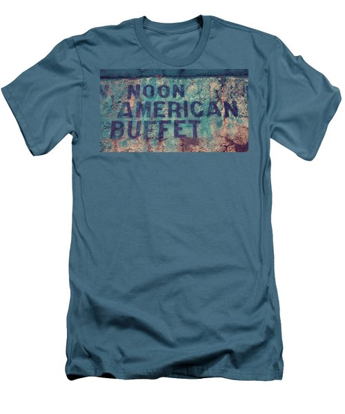 Men's T-Shirt (Slim Fit) featuring the photograph Noon American Buffet by Toni Hopper
