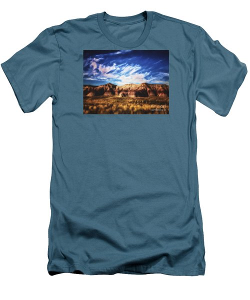Men's T-Shirt (Slim Fit) featuring the photograph Northern Arizona Painted Desert  ... by Chuck Caramella