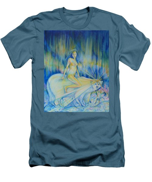 Men's T-Shirt (Slim Fit) featuring the drawing Northern Dream by Anna  Duyunova