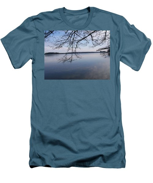 Men's T-Shirt (Slim Fit) featuring the digital art Not A Ripple by Barbara S Nickerson