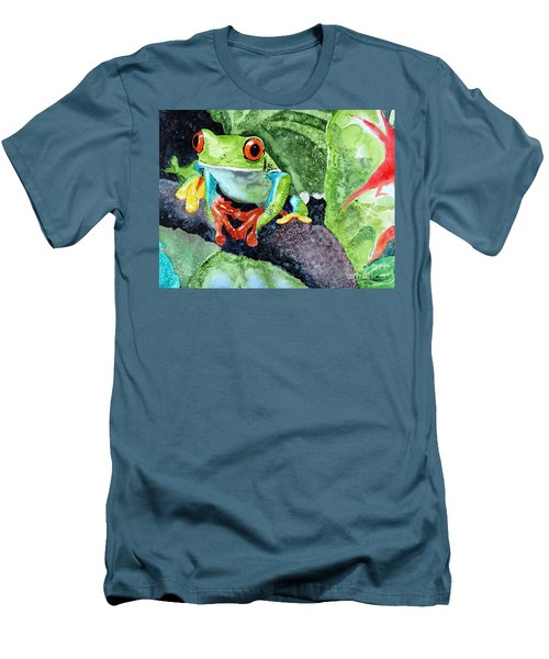 Men's T-Shirt (Slim Fit) featuring the painting Not Kermit by Tom Riggs