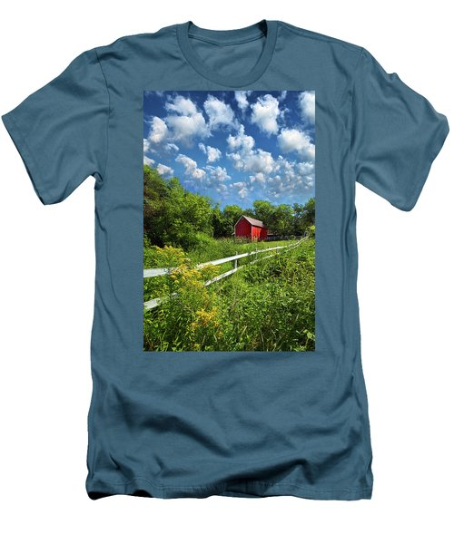Noticing The Days Hurrying By Men's T-Shirt (Slim Fit) by Phil Koch