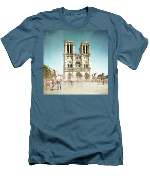 Men's T-Shirt (Slim Fit) featuring the photograph Notre Dame by Hannes Cmarits