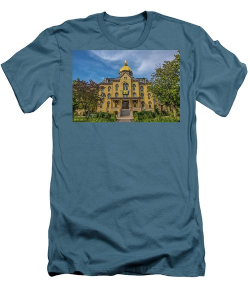 Men's T-Shirt (Slim Fit) featuring the photograph Notre Dame University Golden Dome by David Haskett