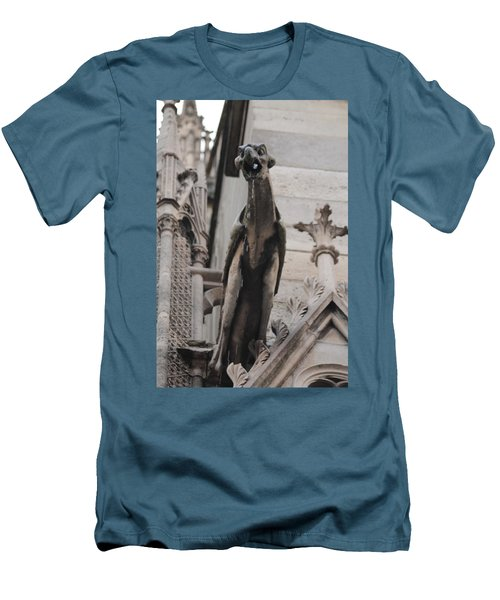 Rain Spouting Gargoyle. Men's T-Shirt (Slim Fit)