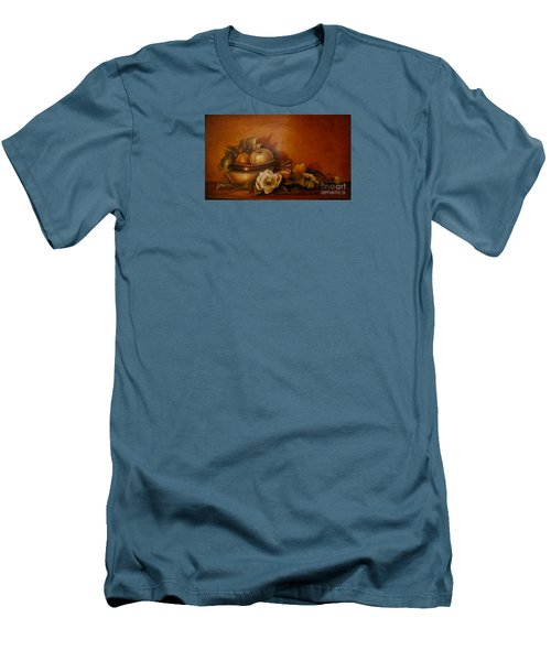 Men's T-Shirt (Slim Fit) featuring the painting Nsdp/design by Patricia Schneider Mitchell
