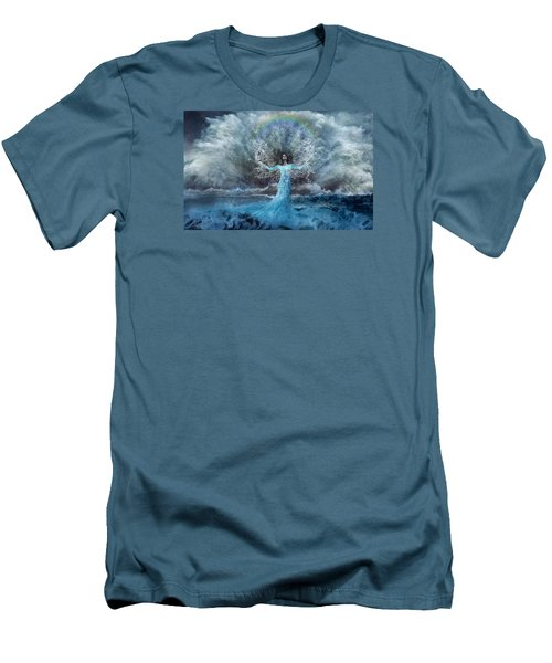 Nymph Of  The Water Men's T-Shirt (Slim Fit) by Lilia D