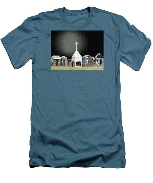Men's T-Shirt (Slim Fit) featuring the digital art O Little Town by Lyric Lucas