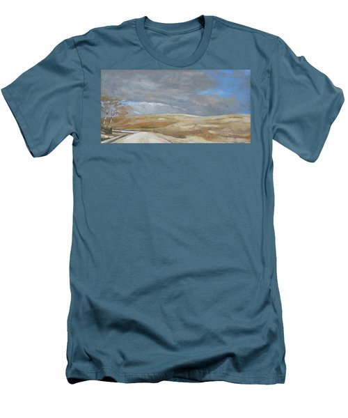 Oak Savanna, Fall Storm Men's T-Shirt (Athletic Fit)