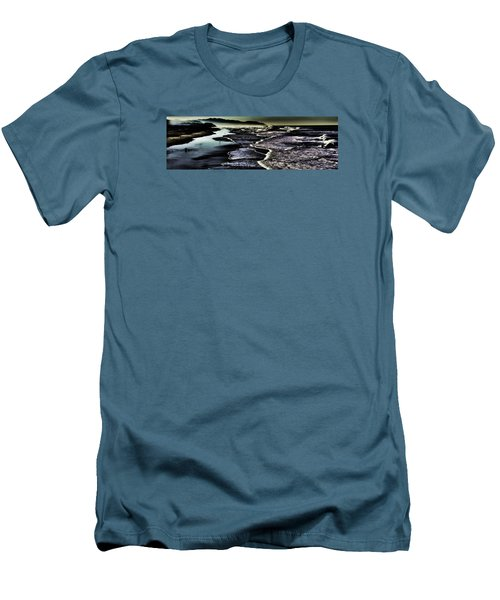 Men's T-Shirt (Athletic Fit) featuring the photograph Ocean Beach Night by Steve Siri