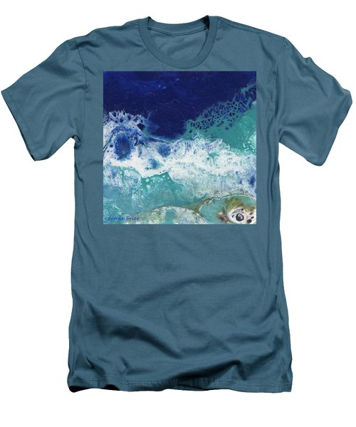 Men's T-Shirt (Athletic Fit) featuring the painting Ocean by Jamie Frier