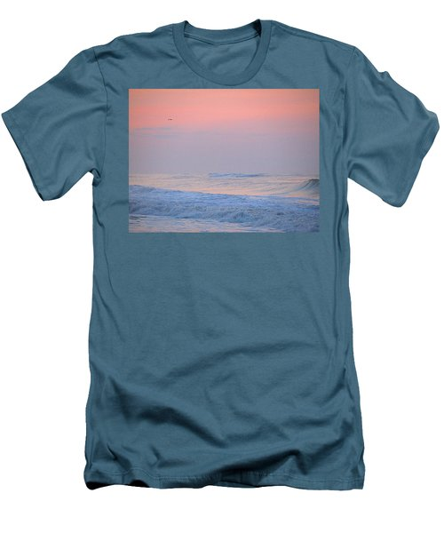 Men's T-Shirt (Slim Fit) featuring the photograph Ocean Peace by  Newwwman
