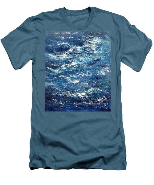 Ocean's Blue Men's T-Shirt (Slim Fit) by Valerie Travers